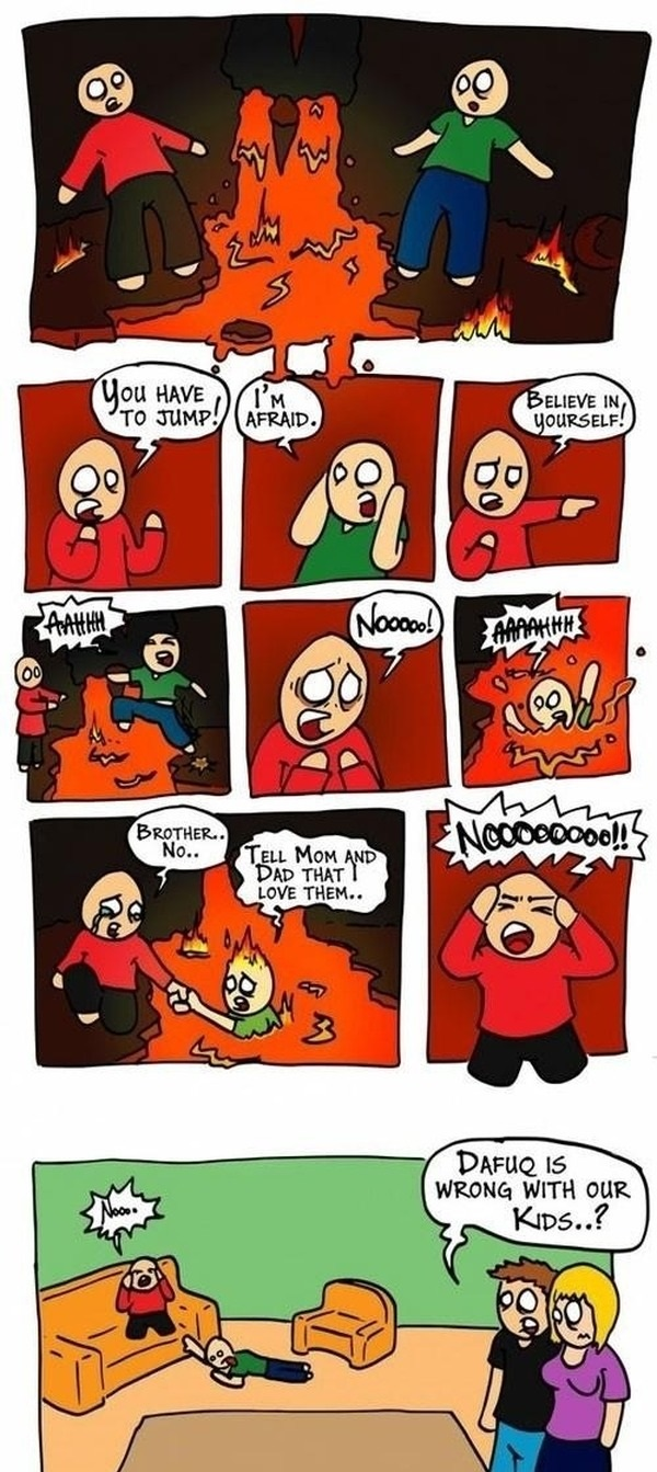 Lava jump comic