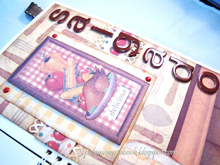 caderno de receitas scrapbook, caderno de receitas personalizado