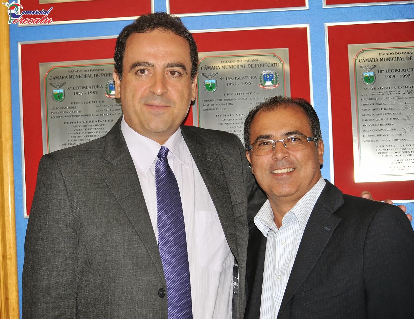 COMERCIAL PORECATU: Posse do Vereador Marcelo Coelho da Silva  Partido  #2067AB 1600 1234
