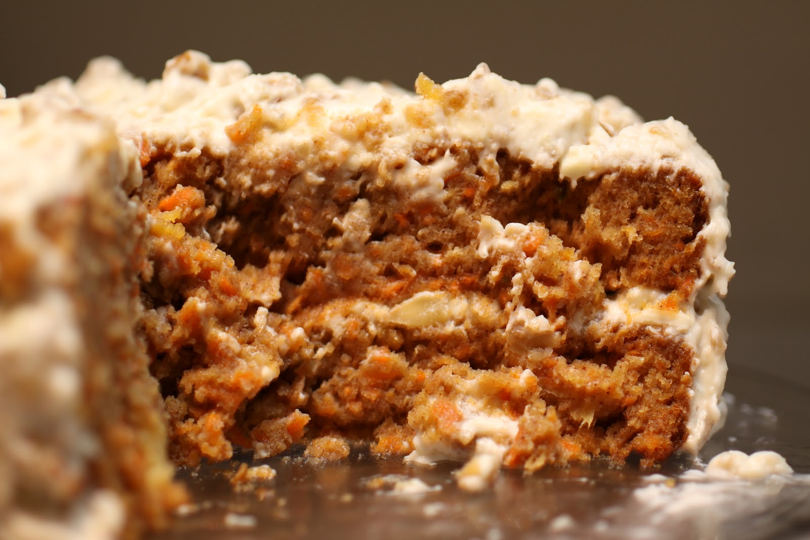 Single Layer Carrot Cake With Pineapple