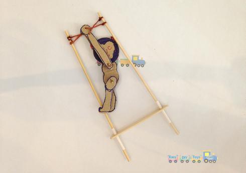 Homemade toys Funny Swinging Monkey 5