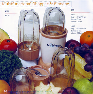 Info & Harga Twin Tulip Tulipware 2014 : Multifunctional Chopper & Blender - Alat Masak & Juicer