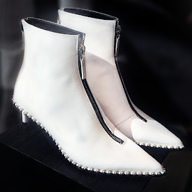 Alexander Wang Eri Studded Booties at Intermix.