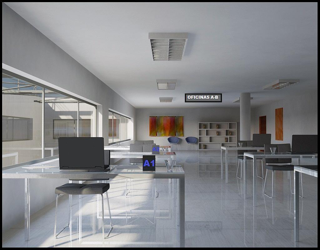 Infoarquitectura render 3d interiores for Oficinas interiores