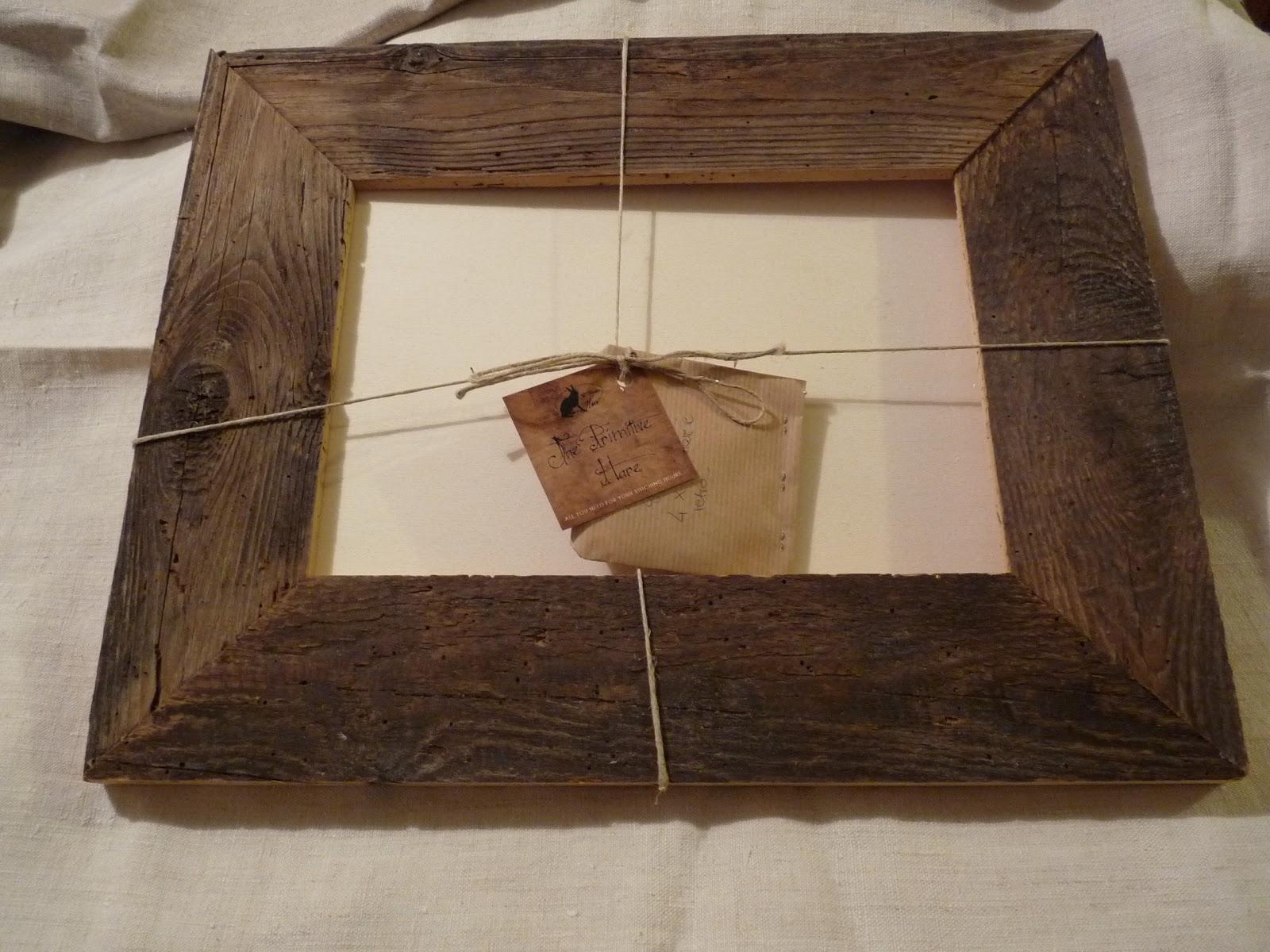 Ricamo a doppio filo cornice in legno grezzo for Cornice foto legno