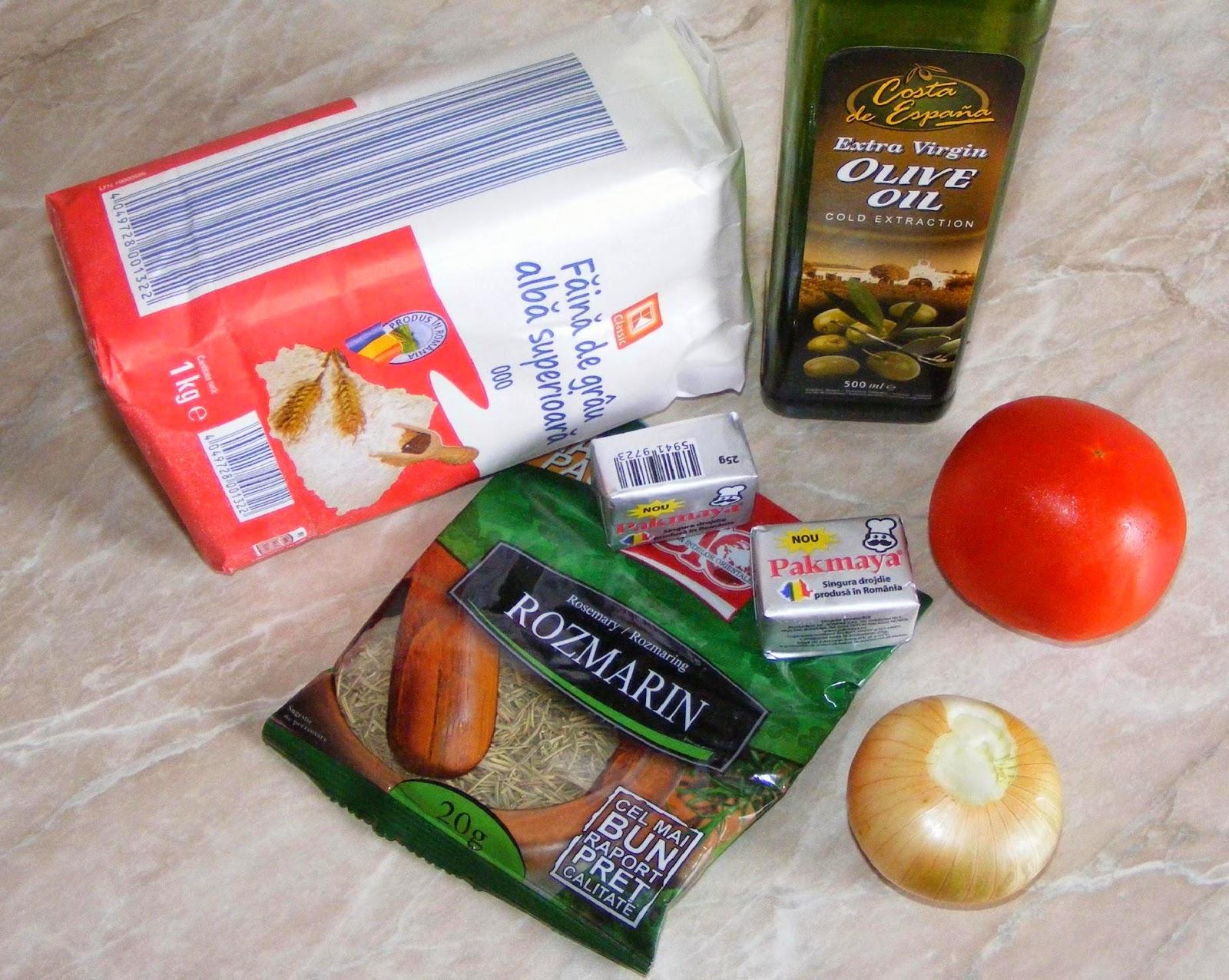 ingrediente focaccia cu ceapa si rosii, retete si preparate culinare focaccia italiana, ce ingrediente ne trebuie pentru focaccia,