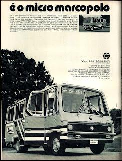 propaganda micro ônibus Marcopolo - 1972