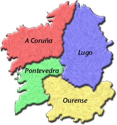 Viaje por espa a mapas de galicia - Viaje de novios espana ...
