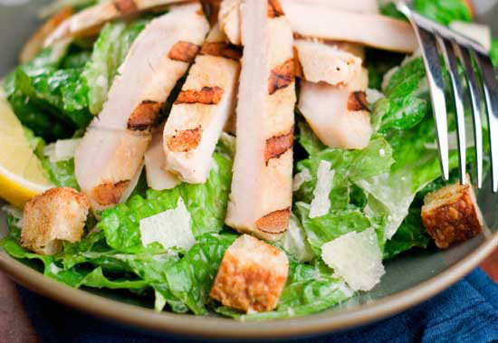how to prepare chicken for caesar salad