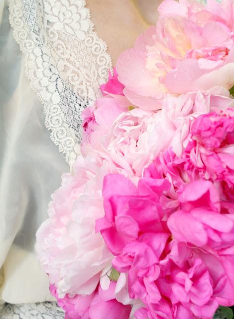 catherine masi / pink peonies bouquet