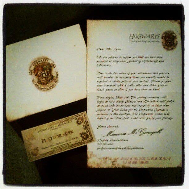 Uniquely Grace Harry Potter Invitations delivered Owl Post