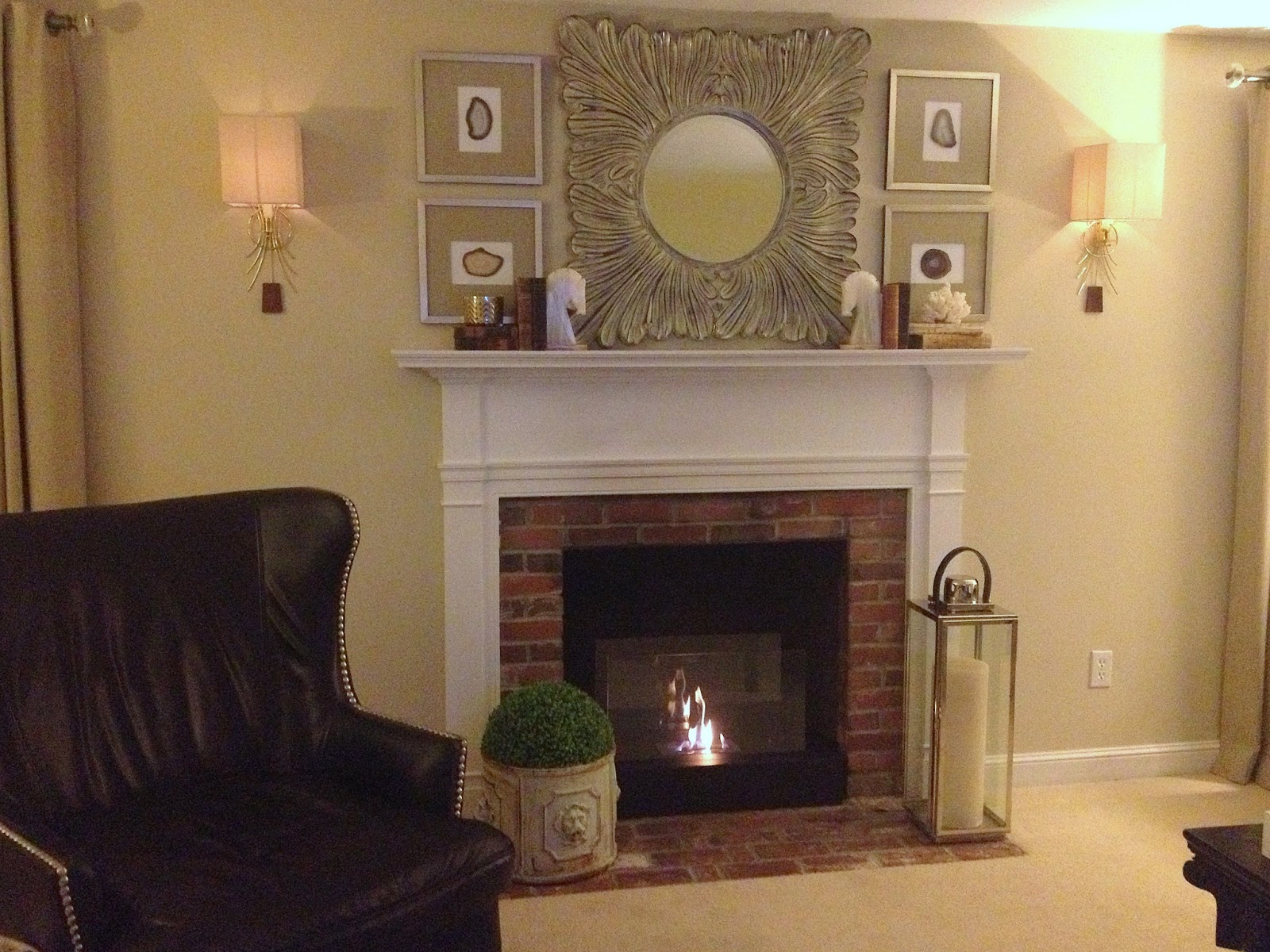 the staging scoop budget friendly fireplace makeover