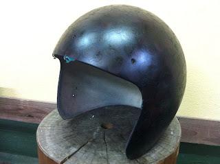 2106938573 - カスタムペイント工程  ジェットヘルメット スカル クリアースピニング