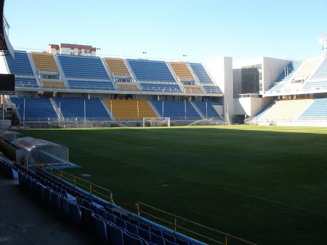 Estadio Ramón de Carranza, dónde juega el Cádiz C.F., histórico del fútbol español que ahora juega en la segunda división b, grupo 4
