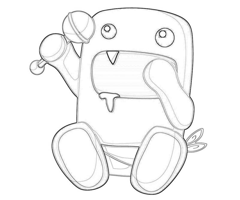 domo kun coloring pages - photo#6