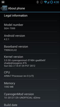 Estas primeras compilaciones de CM10.1 son versiones betas y no están disponibles al publico ya que presentan muchos bugs, pero es bueno saber que despues de que Google libero el código fuente de Android 4.2 al Android Open Source Project (AOSP) y actualizo sus dispositivos a Android 4.1.2, la gente de CyanogenMod no pierde tiempo y dentro de poco comenzará a liberar las primeras versiones Nightlys de CM10.1 no solo para los dispositivos móviles de Samsung, sino para otros smartphones compatibles con la última versión de Android. CM10.1 será compatible con los mismos dispositivos que actualmente tienen soporte con CM10,