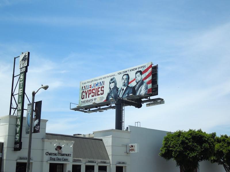 American Gypsies TV billboard