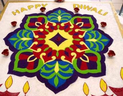 Diwali Rangoli Decoration Ideas