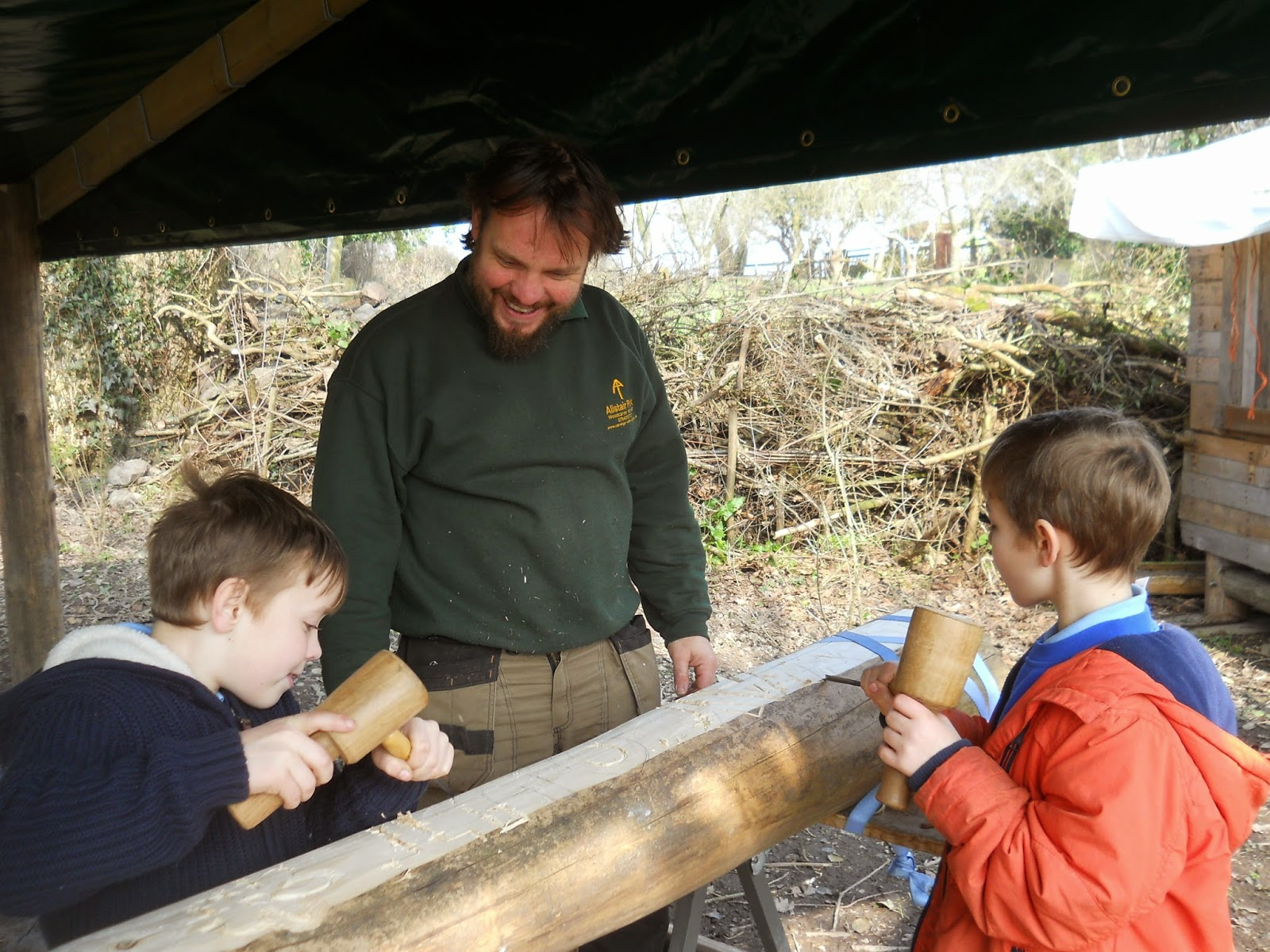 teaching woodcarving