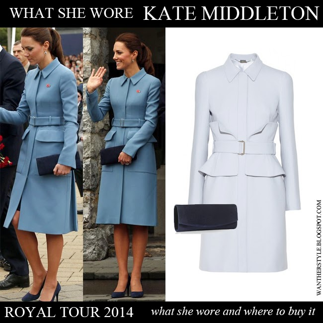 WHAT SHE WORE: Kate Middleton In Blue Peplum Coat With