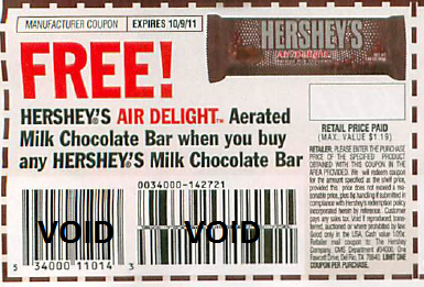coupons needed hersheys single candy bars starting