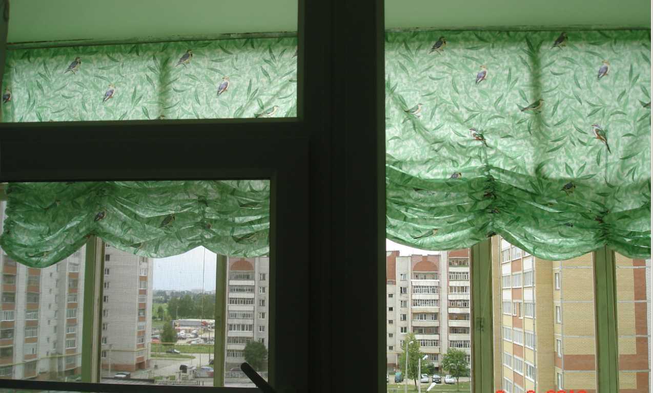 Шторы для балкона с завязками своими руками 100
