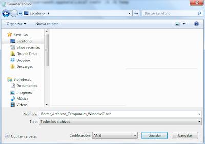 Borrar archivos temporales de Windows 7