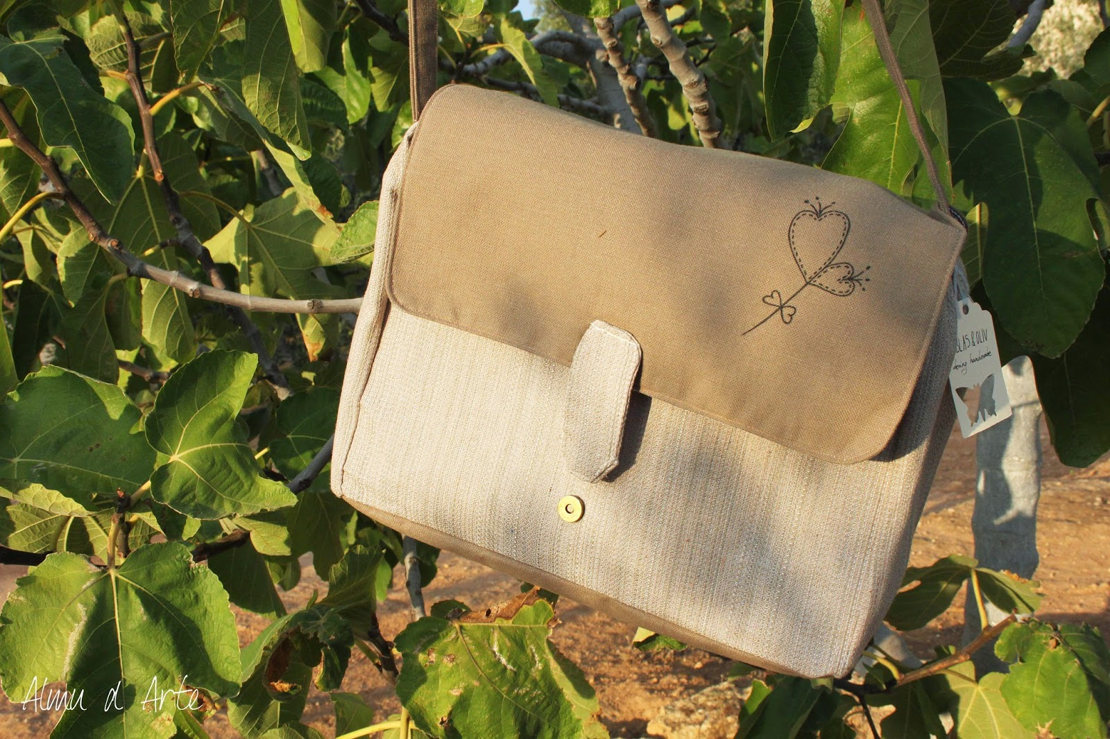 Maxi bolso hecho a mano