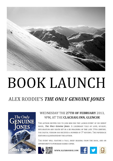 """The Only Genuine Jones"" by Alex Roddie book launch event"