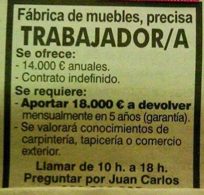 Ofertas de empleo fraudulentas o por qu no debemos - Oferta de trabajo ...