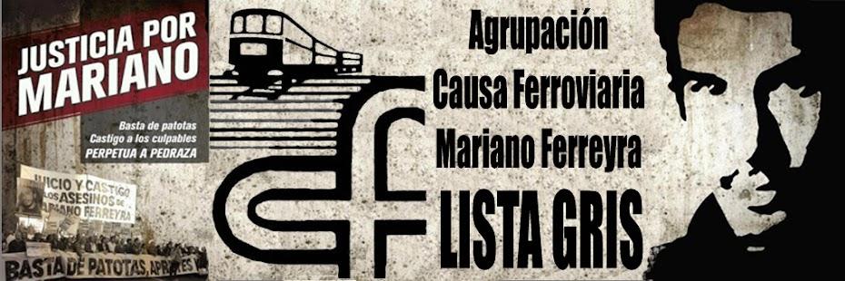 Causa Ferroviaria Mariano Ferreyra - LISTA GRIS