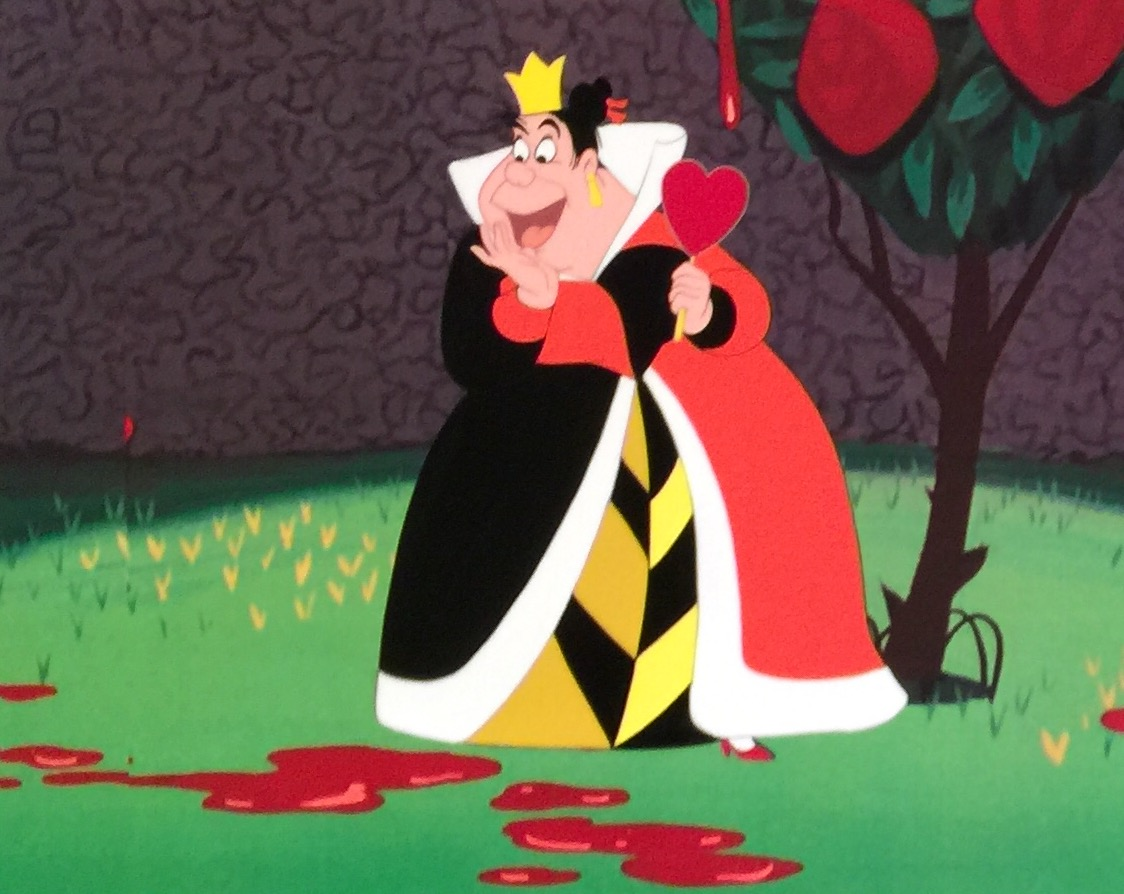 how to draw alice in wonderland queen of hearts