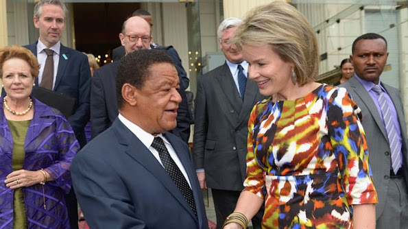 Queen Mathilde of Belgium meets with Ethiopian President Mulatu Teshome on the fourth day in Addis Ababa, part of a four days visit of Belgium Queen in Ethiopia