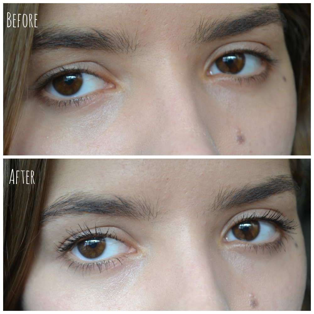 lash wing mascara before after
