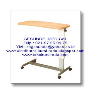 Plywood Overbed Table-Meja Makan Tempat Tidur Rumah Sakit