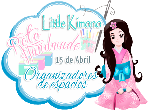 Reto handmade little Kimono organizadores de espacio 15 de abril