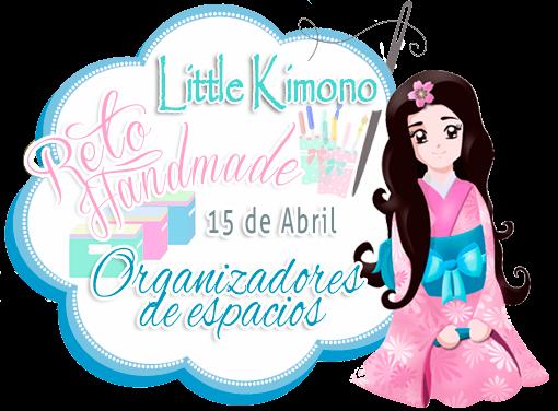 Reto handmade little Kimono organizadores de espacio 15 de abril
