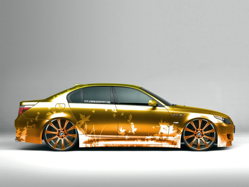 Pictures of modified old cars, flat cars, deer car, sports cars ...