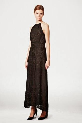 boyundan askılı uzun maksi gece elbisesi