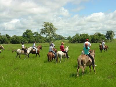 Passeio a cavalo no Pantanal
