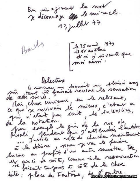 Madame Monnier - Letter