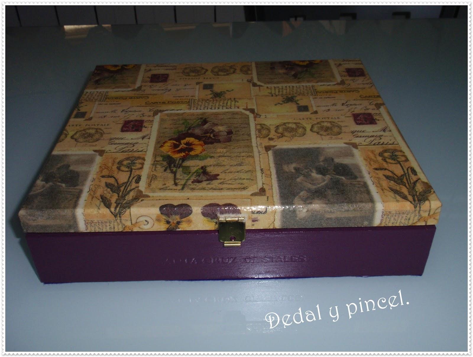 Con dedal y pincel cajas de puros y zapatos decoradas - Cajas de zapatos decoradas ...