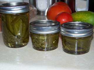 Canning pickled hot peppers