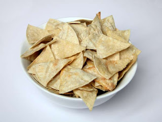 Homemade Tortilla Chips by Tricia @ SweeterThanSweets
