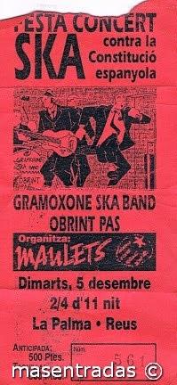 entrada de concierto de obrint pas
