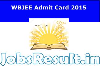 WBJEE Admit Card 2015