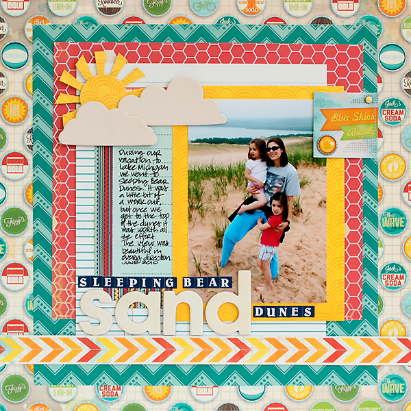 Bo Bunny Key Lime and Family Is Collection Vacation Layout Clean and Simple by Juliana Michaels