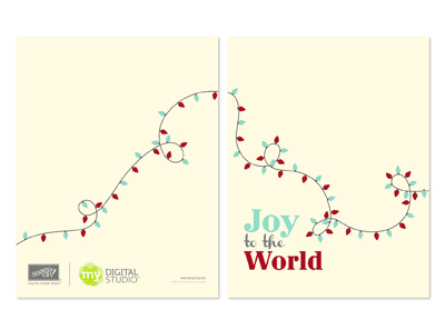 Stampin' Up! Twinkling Joy Greeting Card Template Digital Download