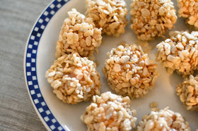 Marshmallow Caramel Rice Krispies Puffs