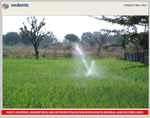 VEDANTA CSR - HINDUSTAN ZINC - AGRICULTURE